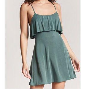 Olive Flounce Dress